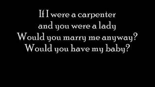 Johnny Cash and June Carter - If I were a carpenter with lyrics