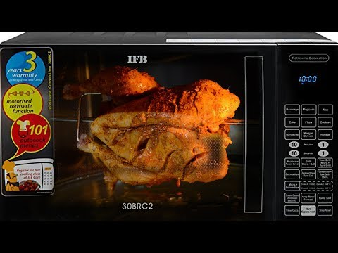 Whole Grilled Chicken Recipe In Rotisserie Microwave| Roasted Chicken Recipe| IFB