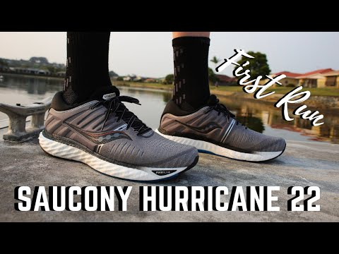 saucony-hurricane-22-first-run-impressions-|-best-stability-shoe?
