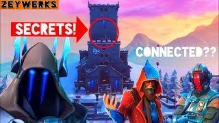 * NOVO * Fortnite temporada 7 Castelo do rei do gelo (segredos encontrados) símbolos deciphered! | Conexão de visitante?