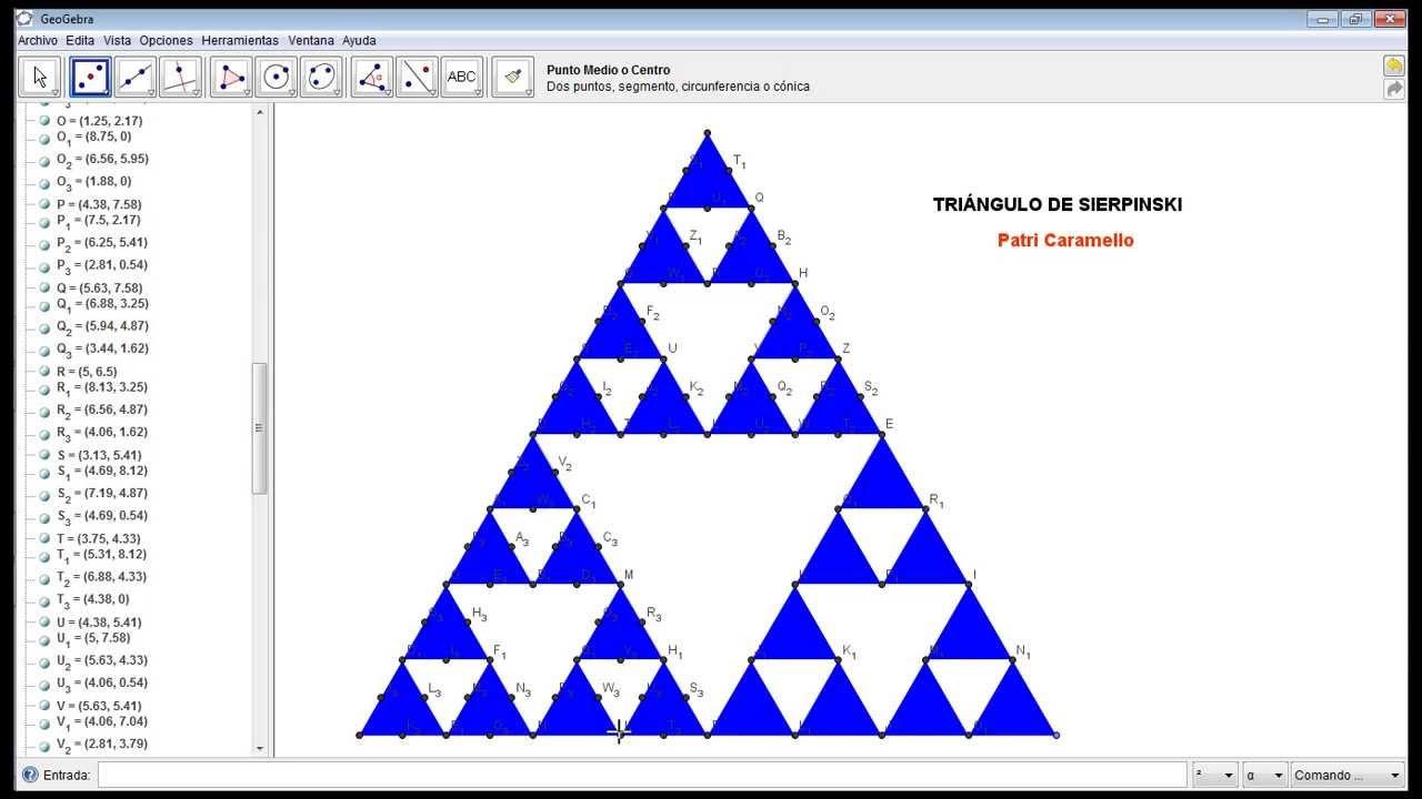 Construcción del Triángulo de Sierpinski - YouTube