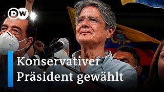Konservativer Guillermo Lasso wird Präsident von Ecuador   DW Nachrichten