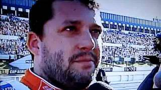Tony Stewart showing A$$ after Pocono race