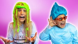 Amelia and Avelina slime adventure with a genie in a bottle