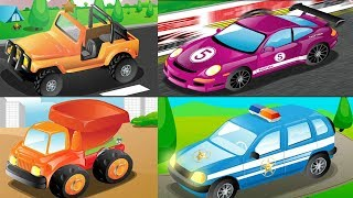 Car Loader Trucks for kids - Sports Car | Racing Cars | Cars toys videos | Cars for Kids