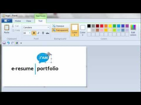 How To Use Microsoft Paint To Create A Personal Logo Youtube