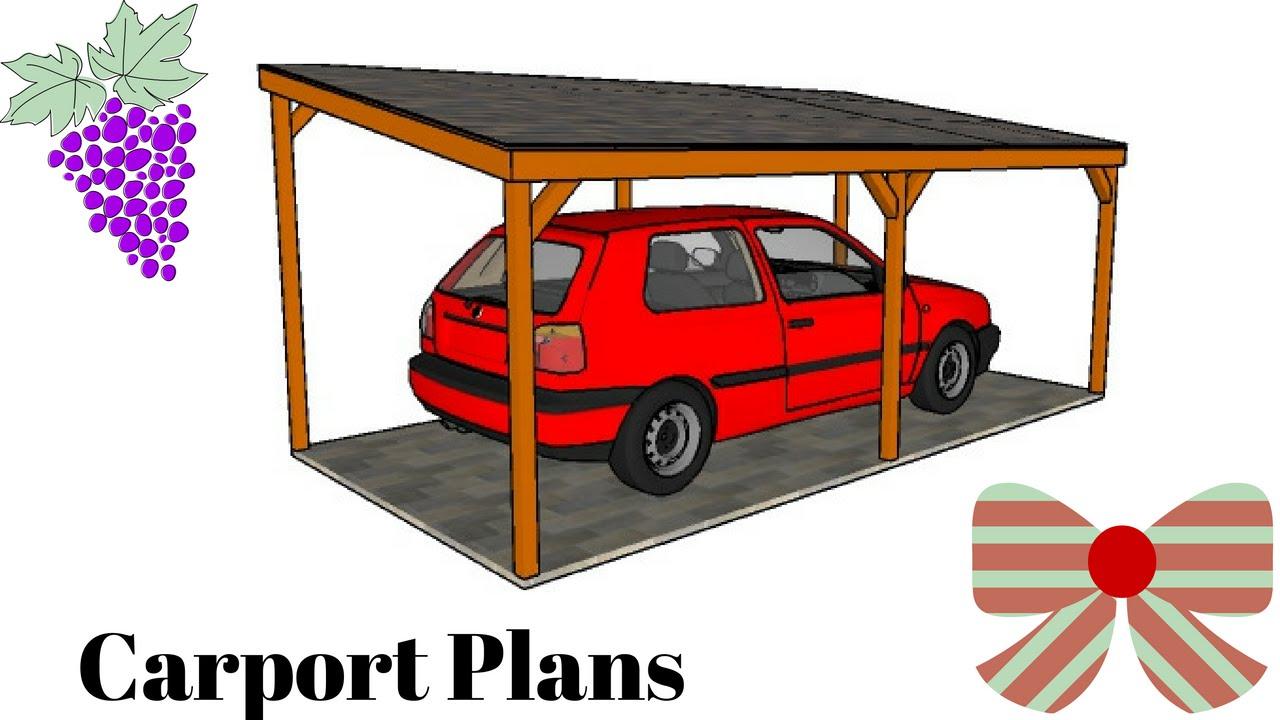 Free Carport Plans Youtube