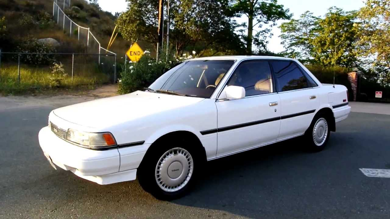1988 toyota camry 1 owner amazing records le v6 se 77k miles xlnt.