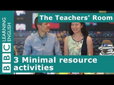 The Teachers' Room: 3 Minimal resource activities