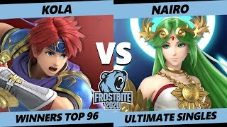 Frostbite 2020 SSBU Winners Top 96 - Kola (Roy) Vs. NRG | Nairo (Palutena) Smash Ultimate Singles