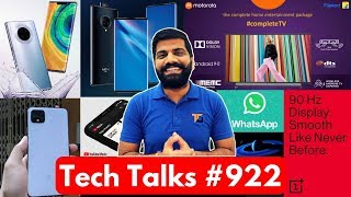 Tech Talks #922 - Motorola TV, OnePlus 7T Launch, Whatsapp Payments, Vivo Nex 3 5G, Amazon Sale