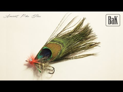 "ANCIENT PIKE FLIES III ""Common Pike Fly  Peacock Moon feathers"" (1801-1865) by BK"