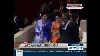 LANGKAH BARU INDONESIA#JOKOWI DAN SBY TIBA DI GEDUNG MPR#PRESIDENT OF INDONESIAN