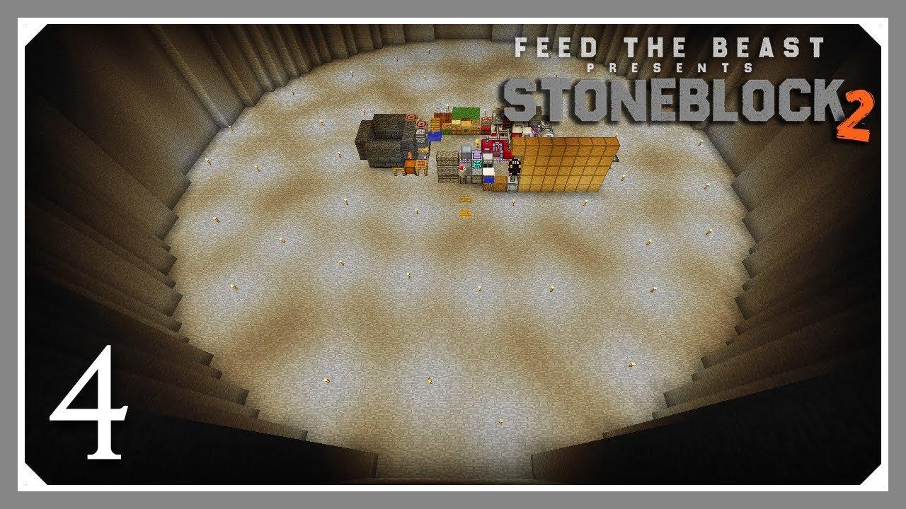 FTB Stoneblock 2 | Starting The Base, Chickens & AE2! | E04 (FTB Stoneblock  2 Let's Play)