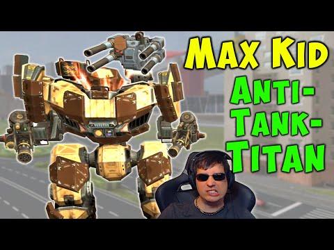 TITAN KID At LvL 150 Max Anti Tank War Robots New 5.6 Gameplay WR