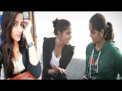 Cute girl Asking Kya aap Virgin Ho | prank on Cute girl | Comedy girl's Reaction | Prank in {BRbhai}