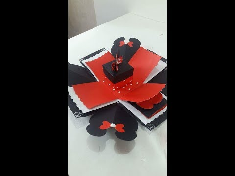 How To Make Mikkie Mouse Exploding box- DIY Exploding Box/ Paper Craft Idea || Nafsi's Craft