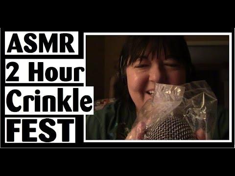 ASMR CrinkleFest - 2 Hours of Insane Triggers - Long Loop plus Slow Speed Finale