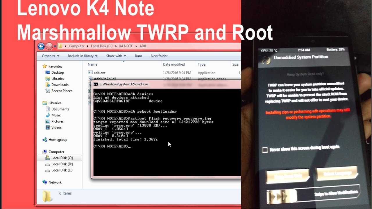 Lenovo K4 Note Marshmallow TWRP and Root