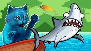 КОТЁНОК ловит РЫБУ #2 игра симулятор кошачей рыбалки Cat Goes Fishing КОТЁНОК ЛАЙК