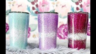 Silver Band Glitter Tumbler