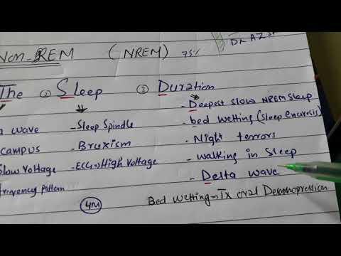 NREM ( Non-REM) sleep with mnemonic. Physiology of sleep
