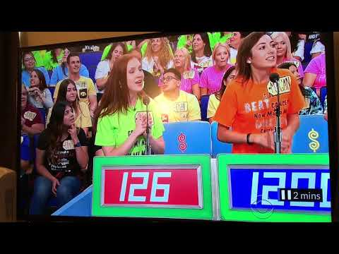 Crazy girl almost kills Drew Carey on the Price is Right!