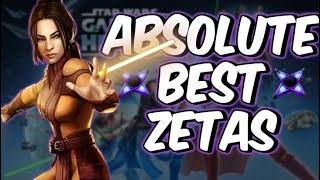 TOP 15 ZETAS November 2018! | Star Wars: Galaxy of Heroes