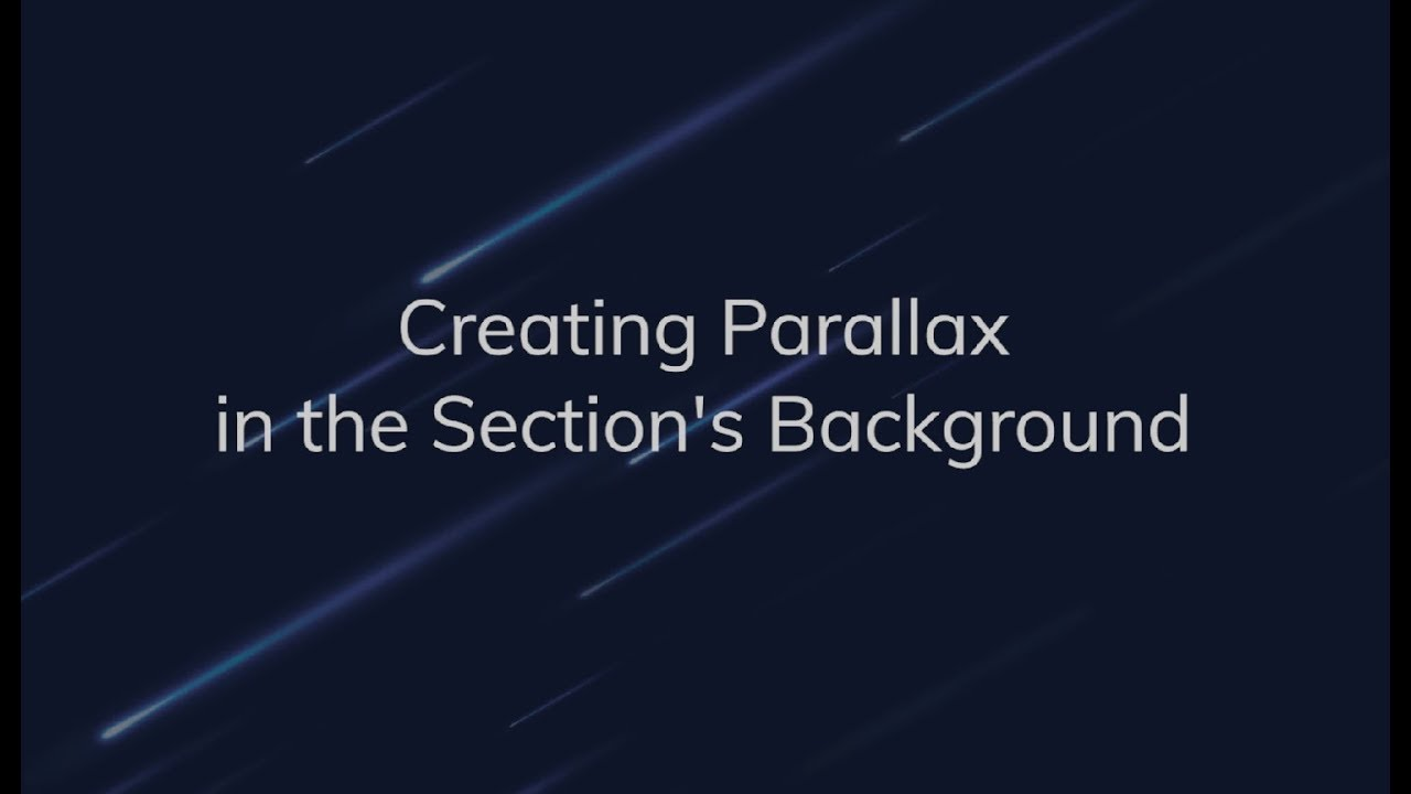 jetelements creating parallax in the section s background youtube
