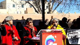 WOMEN'S MARCH SANTA FE  2019 – SANTA FE PLAZA –   Kathy Sanchez Tewa Women United