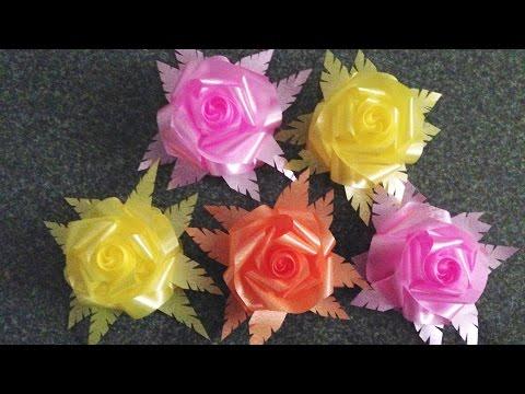 วิธีพับเหรียญงานบวชดอกกุหลาบ 4 เส้น