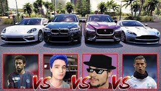 Felipe Neto VS Neymar VS Luccas Neto VS CR7 | BMW VS Porsche VS Aston Martin - Forza Horizon 3
