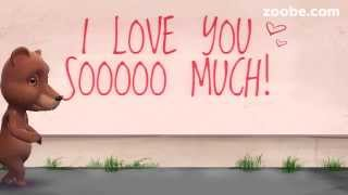 Cute Bear Cartoon Saying I love you With out really saying it