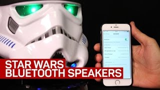 Star Wars speakers play tunes, phone calls and blaster sounds
