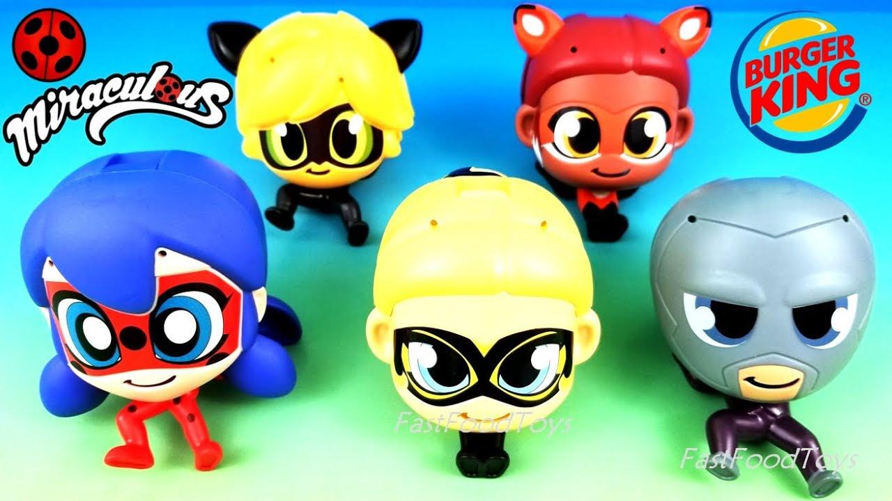 2018 Burger King Miraculous Ladybug Kids Meal Toys Full Set 5 King