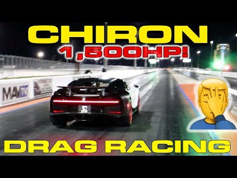 $3.4M Bugatti Chiron Almost Loses Control Drag Racing down the 1/4 Mile