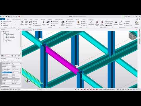 Modelado de Acero en Tekla Structural Designer