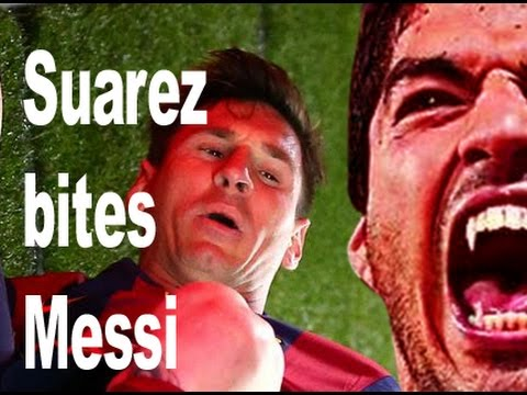 OMG! Again! Suarez bites Messi Backstage || Controversy Video 2015 || UEFA Champions