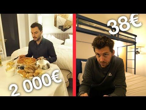 Nuit d'hôtel à 2000€ VS Nuit d'hôtel à 38€