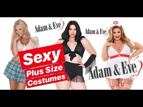 b96631d79e3 SEXY PLUS SIZE HALLOWEEN COSTUMES ft ADAM   EVE ( 18+ ) - YouTube