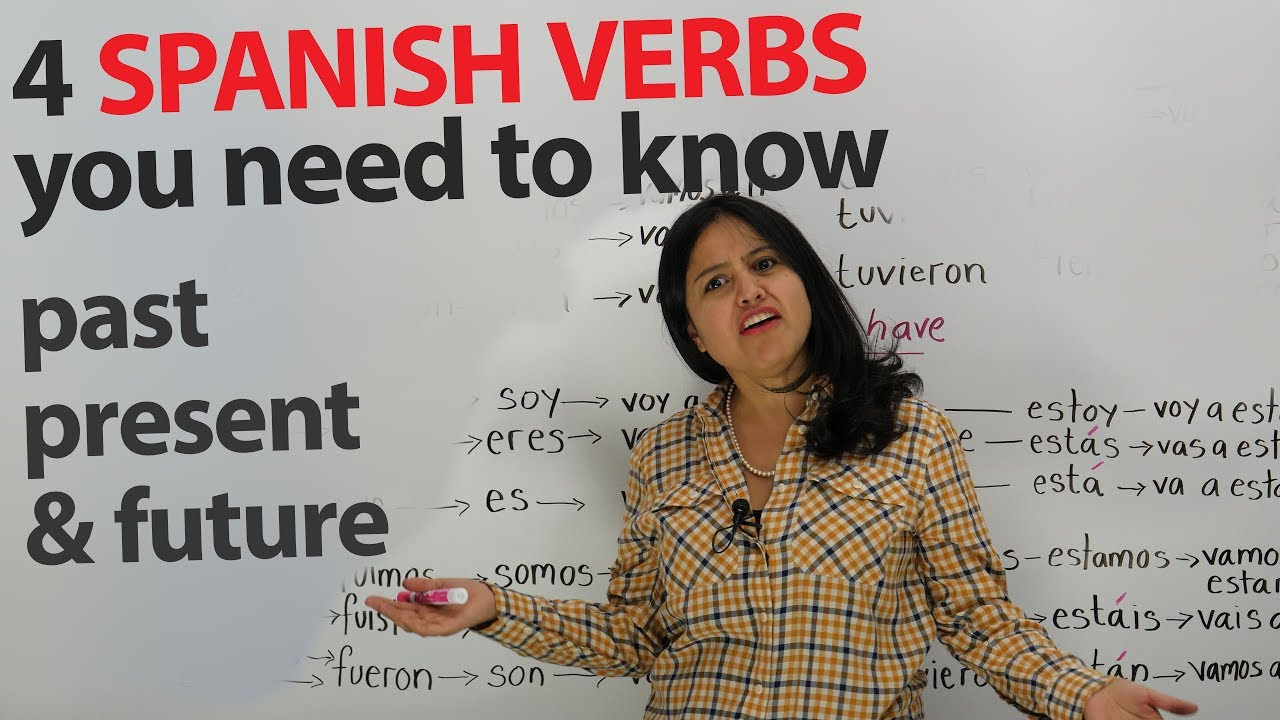 Learn Spanish Verbs: Present, past, and future of SER, ESTAR, TENER, IR