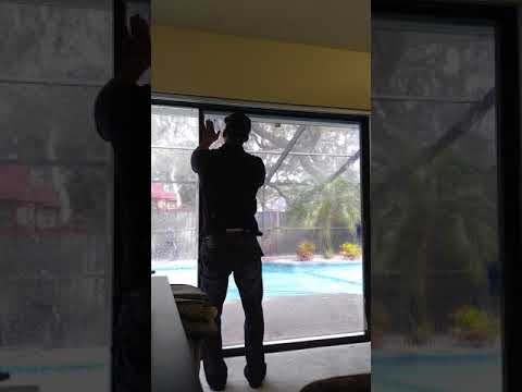 Window Tinting A 58in Sliding Glass Door.