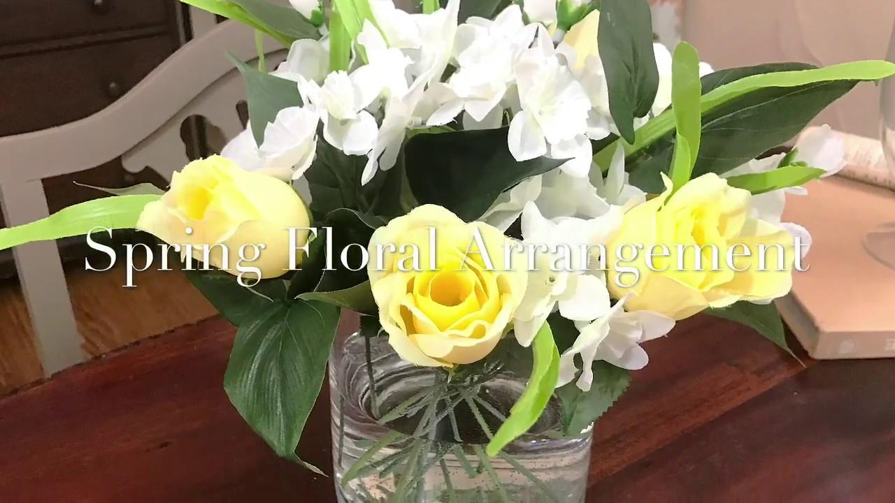 Spring Floral Arrangement Artificial Floral Arrangements That