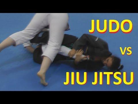 Judo vs  jiu jitsu. Girl  Jiu Jitsu