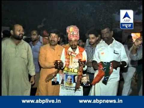BJP wokers  celebrate as Modi sworn in as PM