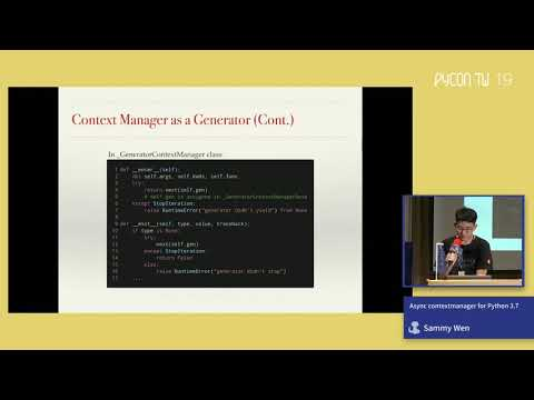 Image from Async Context Manager for Python 3.7