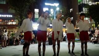 블랙핑크 - '불장난(PLAYING WITH FIRE)' cover Busking in Hongdae