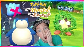 SHINY TANGELA CAUGHT + SHINY SNORLAX CAUGHT in Pokemon Let's Go Pikachu and Eevee! ( DITTO FAIL )