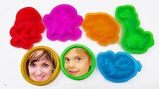 Веселая Школа с Машей Капуки Кануки - Видео для детей - Изучаем Play Doh Touch