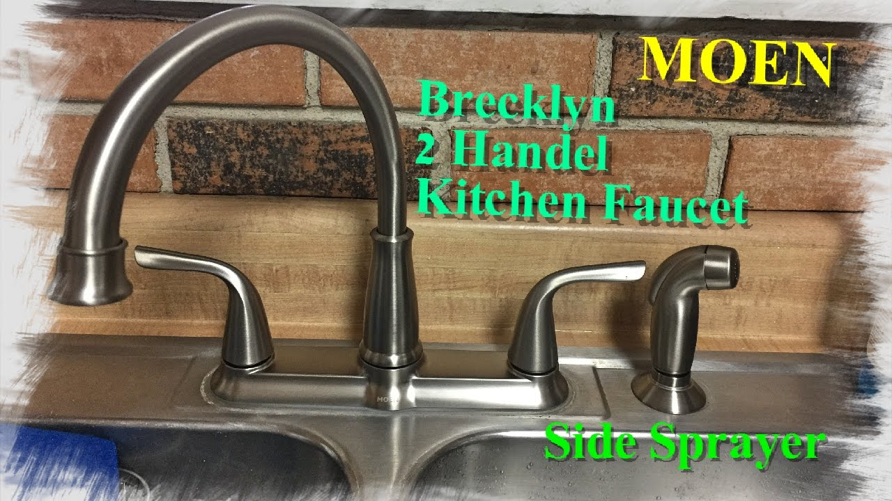 moen kitchen showrooms how to install a faucet with side sprayer youtube